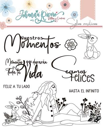 Sello Acrílico Penélope Johanna Rivero de Bellas y Creativas Scrapbooking