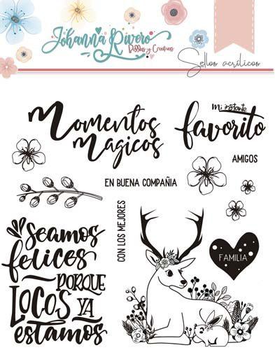 Sello Acrílico Venado Feliz Johanna Rivero de Bellas y Creativas Scrapbooking