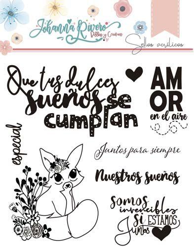 Sello Acrílico Ojitos mágicos Johanna Rivero de Bellas y Creativas Scrapbooking