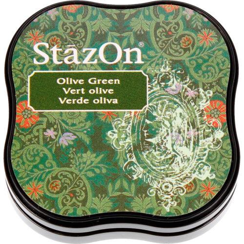 Tinta permanente Stazon midi Olive green secado rápido