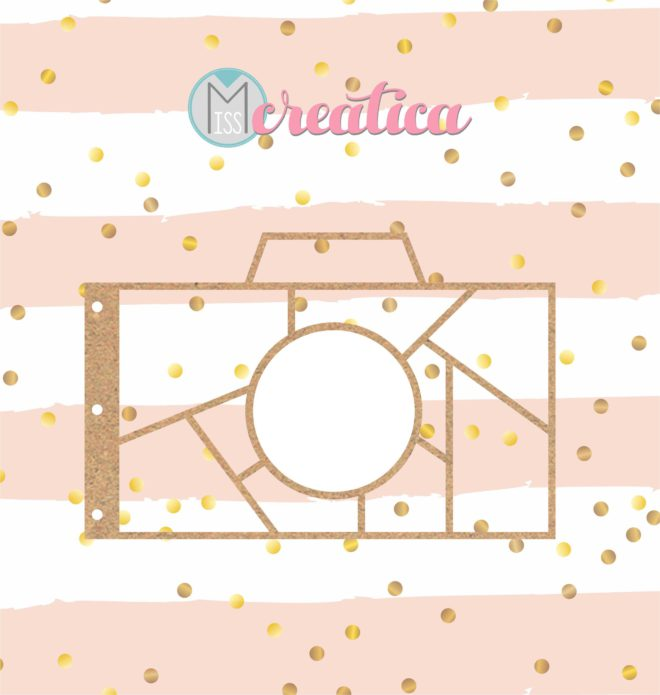 Base para álbum shaker en forma de cámara de fotos Misscreatica