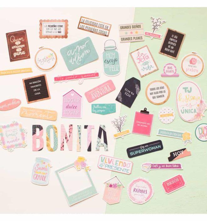 Die Cuts palabras - Colección Bonita de Mintopia