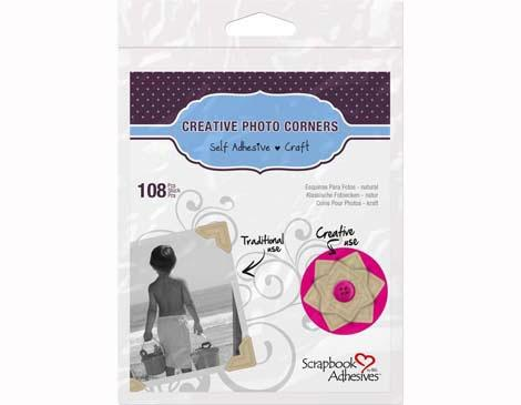 Esquinas adhesivas papel craft 12mm. 108u.