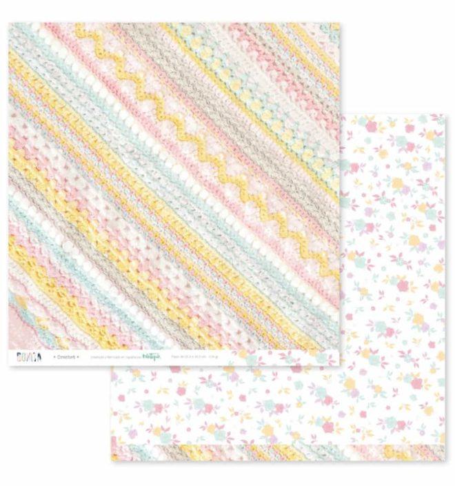 Kit 12 papeles scrapbooking 30x30cm a doble cara - Colección Bonita de Mintopia