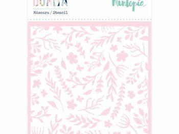 Stencil fondo floral 10x10 cm- Colección Bonita de Mintopia