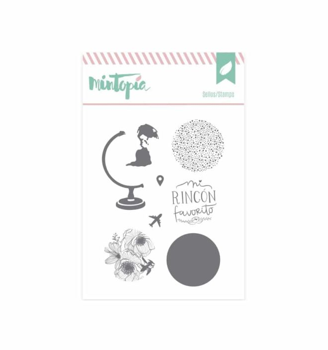 Sello crea tu bola del mundo - Colección Bonita de Mintopia