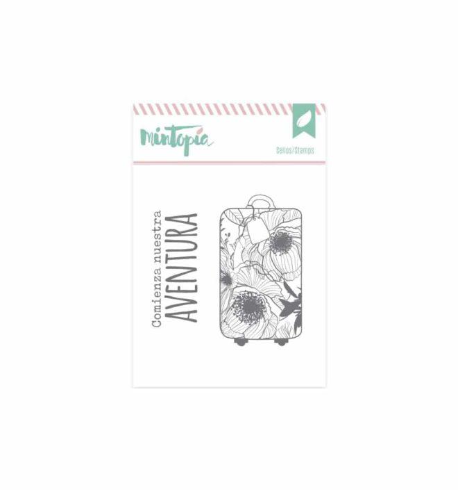Sello Maleta de flores - Colección Bonita de Mintopia