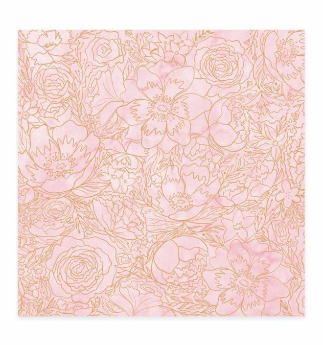 Vellum flores foil 30x30 - Colección Bonita de Mintopia