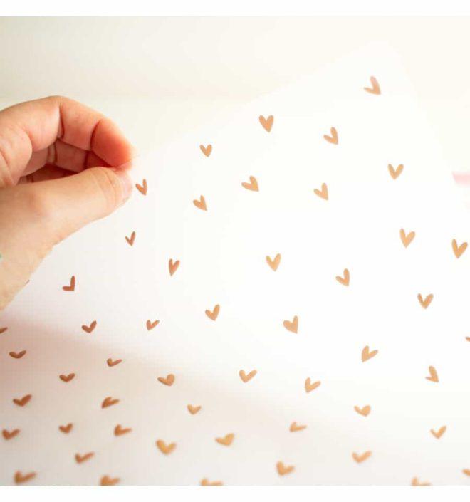Vellum lluvia de corazones 30x30 - Colección Bonita de Mintopia