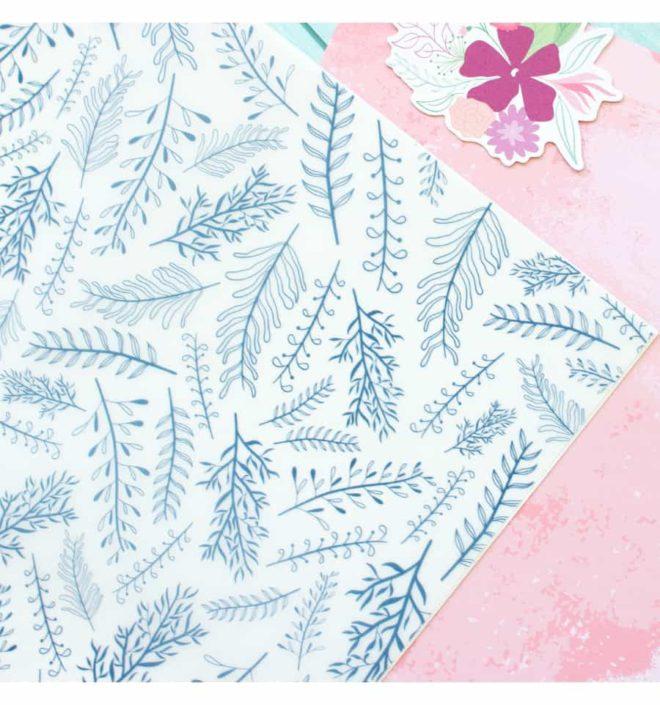 Vellum ramitas 30x30 - Colección Bonita de Mintopia