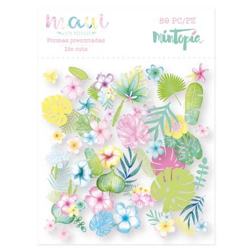 Die cuts flores colección Maui de Mintopía y Wilma Rodríguez