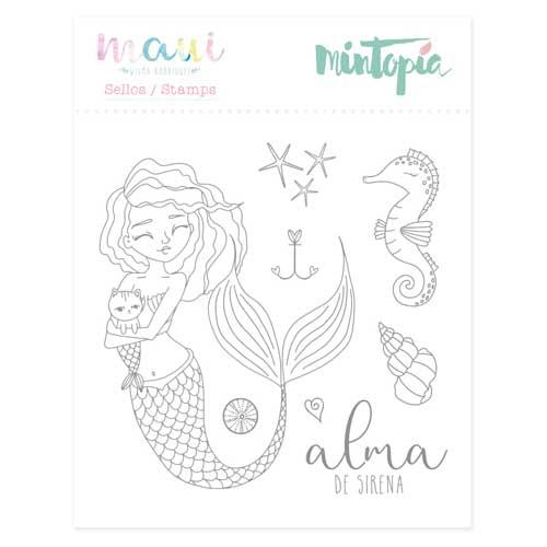 Sello Alma de sirena colección Maui de Mintopía y Wilma Rodríguez