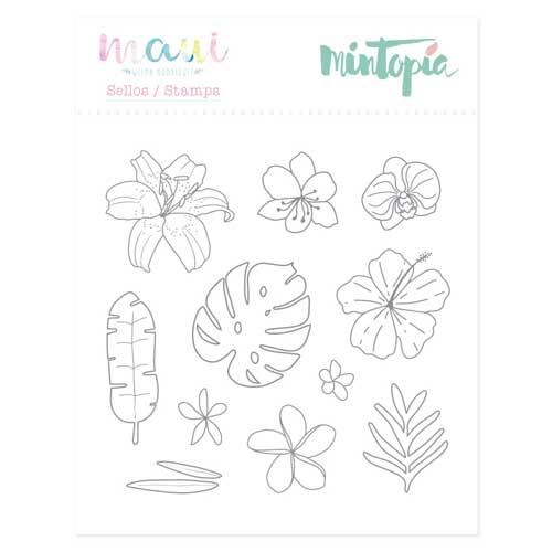 Sello Flora colección Maui de Mintopía y Wilma Rodríguez
