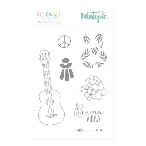 Sello Ukelele Colección Maui de Mintopía y Wilma Rodríguez