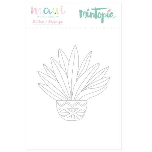 Sello Planta Tropical Colección Maui de Mintopía y Wilma Rodríguez