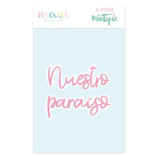 Troquel Nuestro Paraiso Colección scrapbooking Maui de Mintopía y Wilma Rodríguez