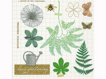 Servilleta para decoupage 33 x 33 Love Gardening