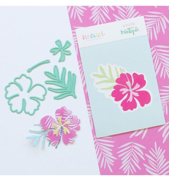Troquel Hibiscus Colección scrapbooking Maui de Mintopía y Wilma Rodríguez