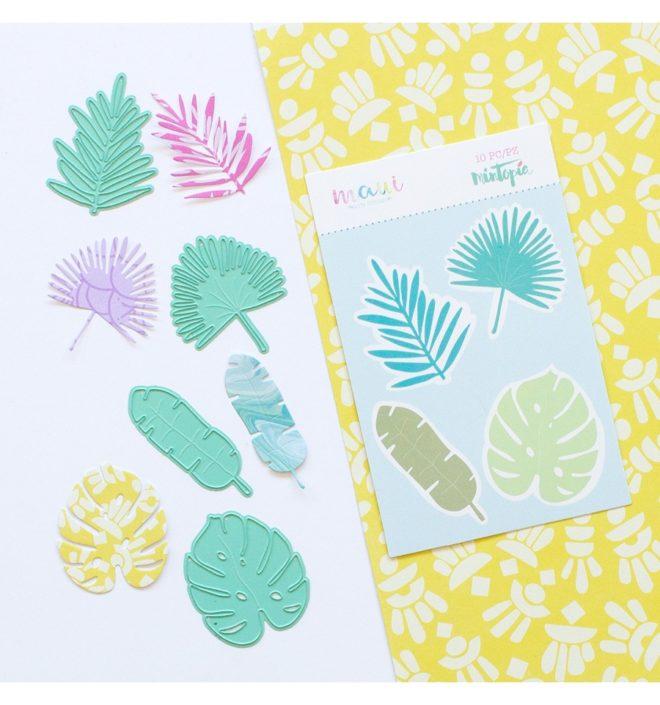 Troquel Hojas Tropicales Colección scrapbooking Maui de Mintopía y Wilma Rodríguez