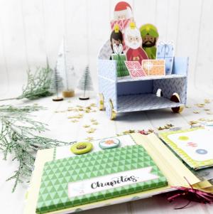 Scrapbooking navideño | Snail mail en una mini carroza de los reyes magos