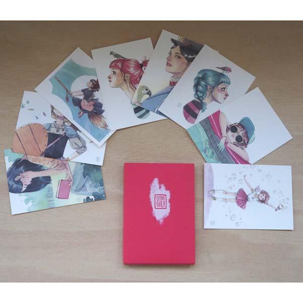 Postales Esther Gili Pack Rojo