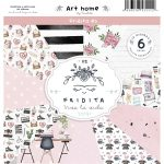 Fridita Art Home Set de 6 papeles para Scrapbooking
