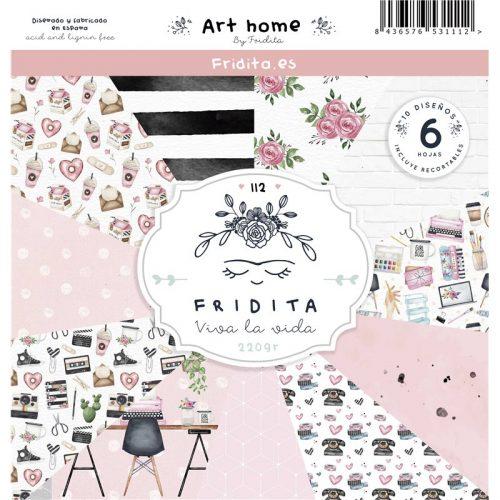 Fridita Art Home Set de 6 papeles para Scrapbooking