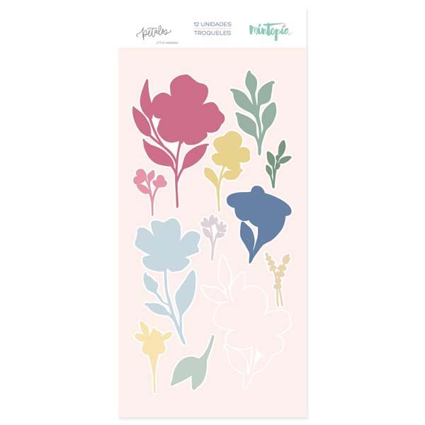 Troquel Pétalos Flores (a conjunto con sello)