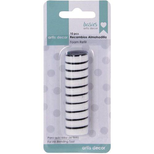Recambio 10 almohadillas para aplicador de tinta mini Artis decor Ink Blending Tool