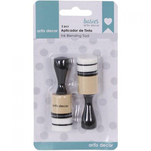 Set 2 aplicadores de tinta redondos Mini con 4 esponjas Artis Decor Ink Blending Tool