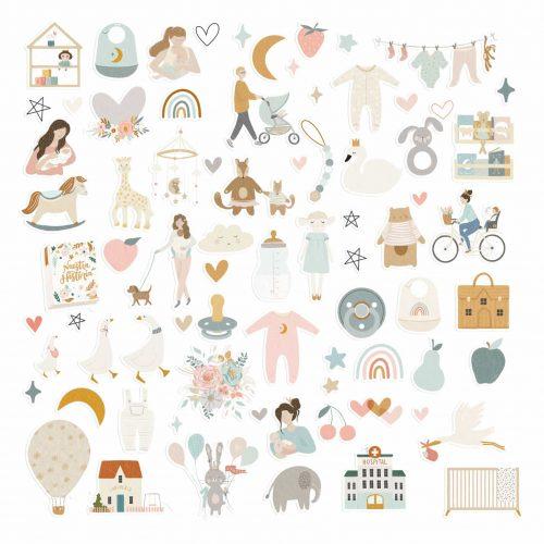 Baby M de Lora Bailora - Die Cuts Ilustraciones
