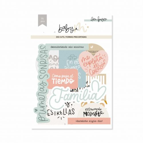 Baby M de Lora Bailora - Die Cuts Lettering con foil