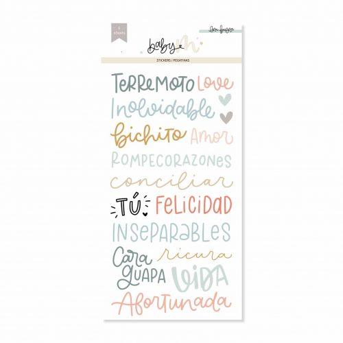 Baby M de Lora Bailora - Set pegatinas frases