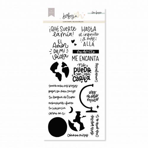 Baby M de Lora Bailora - Set de Sellos Acrílicos Mi Mundo