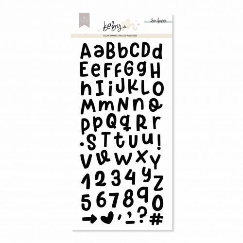 Baby M de Lora Bailora - Set de Sellos Acrílicos Alfabeto