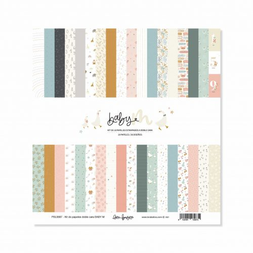Baby M de Lora Bailora - Kit de 18 papeles a doble cara de 30,5x30,5 cm