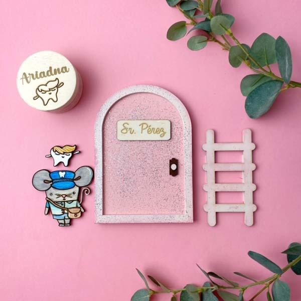 Puerta del ratoncito Pérez. Kit Sr. Pérez Misscreatica by Cute & Crafts