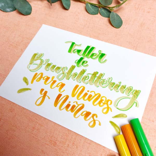 Taller lettering para niños en barcelona